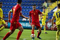 PODGORICA, MONTENEGRO - JUNE 07: Stefan Mugosa of Montenegro during the 2020 UEFA European Championships group A qualifying match between Montenegro and Kosovo at Podgorica City Stadium on June 7, 2019 in Podgorica, Montenegro MB Media