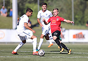 Jacob Richards of Canterbury United.<br /> ISPS Handa Men's Premiership football match between Canterbury United and Auckland City at English Park in Christchurch on Sunday 13 December 2020. © Copyright image by Martin Hunter / www.photosport.nz
