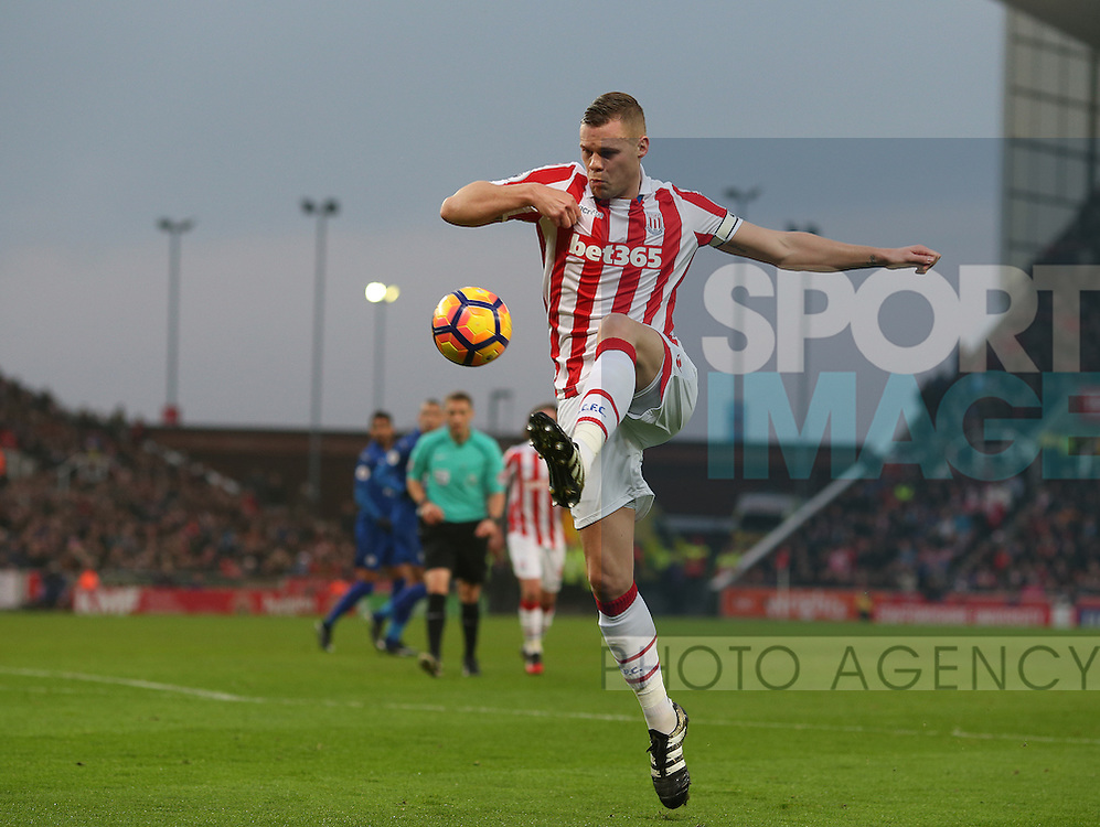 Ryan Shawcross of Stoke City during the English Premier League match at the Bet 365 Stadium, Stoke on Trent. Picture date: December 17th, 2016. Pic Simon Bellis/Sportimage
