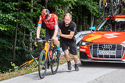 during 3rd Stage of 27th Tour of Slovenia 2021 cycling race between Brezice and Krsko (165,8 km), on June 11, 2021 in Brezice - Krsko, Brezice - Krsko, Slovenia. Photo by Vid Ponikvar / Sportida