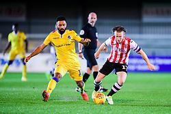 Alex Jakubiak of Bristol Rovers marks Matt Jay of Exeter City - Mandatory by-line: Ryan Hiscott/JMP - 13/11/2018 - FOOTBALL - St James Park - Exeter, England - Exeter City v Bristol Rovers - Checkatrade Trophy