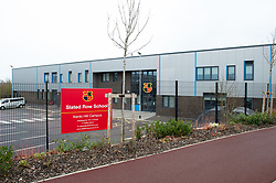 © Licensed to London News Pictures. 08/02/2020. Milton Keynes, UK. The Slated Row School (Kents Hill Campus) is located opposite the Kents Hill Park Training and Conference Centre. A Milton Keynes conference centre is to house evacuees from the Chinese city of Wuhan, the epicentre of the Novel Coronavirus (2019-nCoV) outbreak, the British citizens are due to be flown back on Sunday 9th February and are expected to land at RAF Brize Norton in Oxfordshire and will remain at the Kents Hill Park Training and Conference Centre for 14 days to be monitored. Photo credit: Peter Manning/LNP