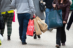 © Licensed to London News Pictures. 18/12/2018. Bromley, UK. With one week to go before Christmas day, Bromley high street in South East London is very busy this afternoon with shoppers carrying bags full of gifts rather than shop<br /> online.Photo credit: Grant Falvey/LNP