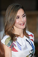 Queen Letizia of Spain attend a official reception for Authorities at the Almudaina Palace on August 7, 2016 in Palma de Mallorca, Spain