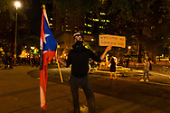 Portland Protests in downtown Portland, Oregon. Winston carrying the flag of Puerto Rico, winston9109@gmail.com