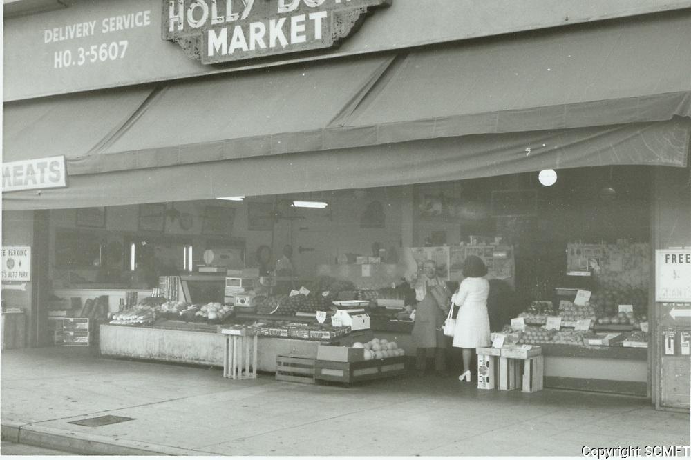 1972 Hollywood Bowl Market on Highland Ave. at Yucca St.