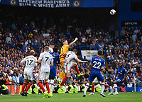 Football - 2019 / 2020 Premier League - Chelsea vs. Sheffield United<br /> <br /> Sheffield United's Dean Henderson punches clear from a corner, at Stamford Bridge.<br /> <br /> COLORSPORT/ASHLEY WESTERN