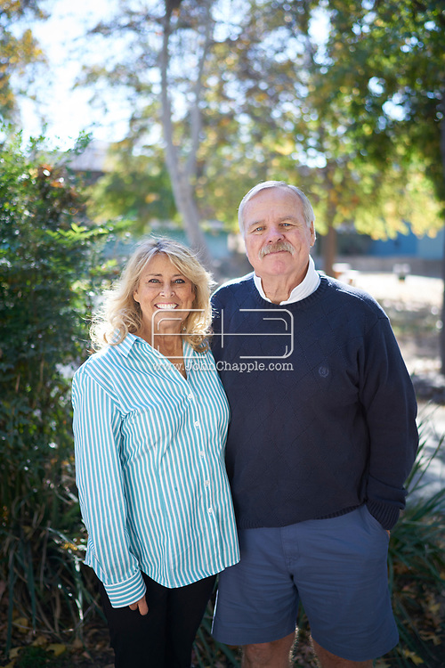December 21, 2017, Los Angeles, California. Kidney transplant patient Lois Knudson (59), who received her new Kidney from a NY Firefighter. Lois is pictured with her husband Tom.<br /> Photo Copyright John Chapple / www.JohnChapple.com