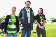 CEO with Club persons of the year during the EFL Sky Bet League 2 match between Forest Green Rovers and Exeter City at the New Lawn, Forest Green, United Kingdom on 4 May 2019.
