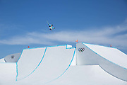 Sarah Hoefflin, Switzerland, Womens ski Slopestyle at the Pyeongchang Winter Olympics on 17th February 2018 at Phoenix Snow Park in South Korea