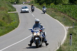 Slovenian police man on motorbike at 1st stage of Tour de Slovenie 2009 from Koper (SLO) to Villach (AUT),  229 km, on June 18 2009, in Koper, Slovenia. (Photo by Vid Ponikvar / Sportida)
