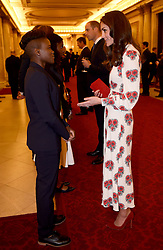 October 18, 2016 - London, United Kingdom - UK OUT Image licensed to i-Images Picture Agency. 18/10/2016. London, United Kingdom. The Duchess of Cambridge talks to boxer Nicola Adams at a reception for Team GB and Paralympics GB medallists from the 2016 Olympic and Paralympic Games at Buckingham Palace in London. Picture by ROTA / i-Images  UK OUT (Credit Image: © Rota/i-Images via ZUMA Wire)