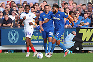 AFC Wimbledon midfielder Tom Soares (19) dribbling during the EFL Sky Bet League 1 match between AFC Wimbledon and Portsmouth at the Cherry Red Records Stadium, Kingston, England on 13 October 2018.