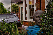 Front garden with statue of Lenin as an ornament, 9th September, 2007, Highgate, London, United Kingdom. Many Lenin statues became available when the Soviet block collapsed in the late 1980s.  Ukraine removed all 1,320 statues following a government drive to rid the country of Soviet-era symbols.
