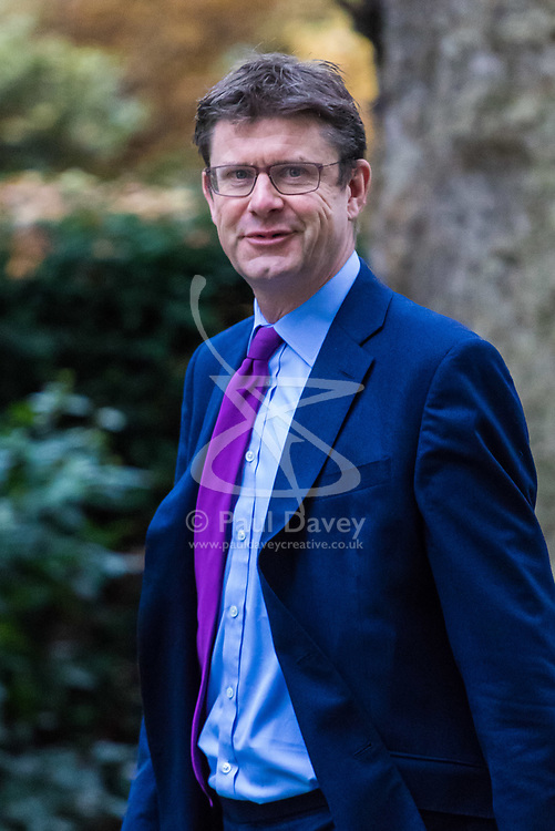 London, December 05 2017. Secretary of State for Business, Energy and Industrial Strategy Greg Clark arrives at 10 Downing Street to attend the weekly cabinet meeting. © Paul Davey