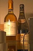 In a corner of the cellar: Chateau d'Yquem 1980 and Clos des Lambrays Bourgogne Grand Cru 1918 - Chateau Haut Bergeron, Sauternes, Bordeaux