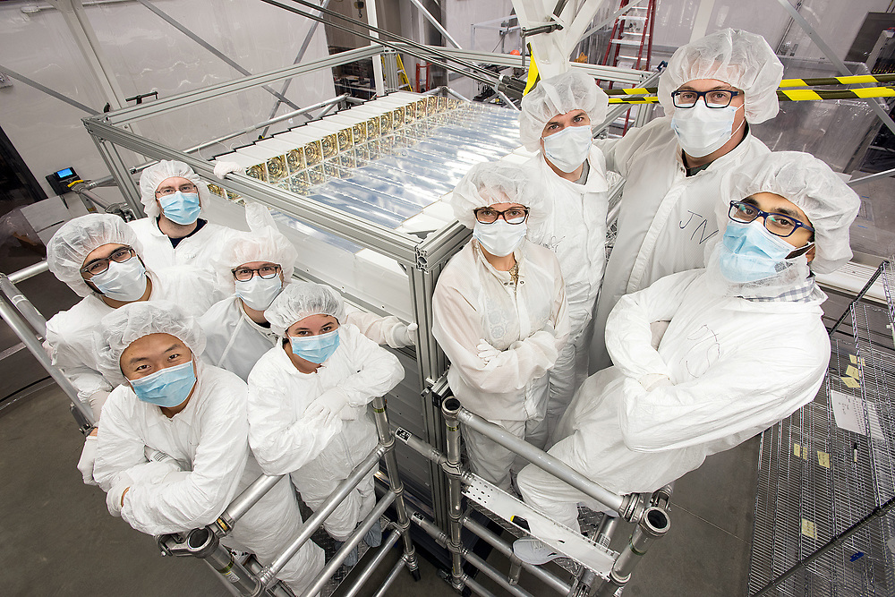 Photo by Mara Lavitt<br /> New Haven, CT<br /> November 17, 2017<br /> Photography: ©Mara Lavitt<br /> <br /> The final stages of building a neutrino detector at Yale University's Wright Lab. The building crew of students, research assistants, and faculty from Yale and Temple Universities.