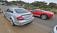 2008 Mercedes Benz AMG CLK 63 Black Series (Iridium Silver) .2005 Ford GT (Red / White) .Corporate Drive Day with Octane Events & The Supercar Club.Moonah Links Golf Course, Mornington Pennisula, Victoria .6th-7th of August 2009 .(C) Joel Strickland Photographics