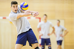 Klemen Cebulj during training camp of Slovenian Volleyball Men Team 1 month before FIVB Volleyball World League tournament in Ljubljana, on May 5, 2016 in Arena Vitranc, Kranjska Gora, Slovenia. Photo by Vid Ponikvar / Sportida