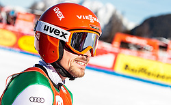 29.01.2017, Casino Arena, Seefeld, AUT, FIS Weltcup Nordische Kombination, Seefeld Triple, Skisprung, im Bild Fabian Riessle (GER) // Fabian Riessle of Germany reacts after his Competition Jump of Skijumping of the FIS Nordic Combined World Cup Seefeld Triple at the Casino Arena in Seefeld, Austria on 2017/01/29. EXPA Pictures © 2017, PhotoCredit: EXPA/ JFK