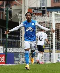 Siriki Dembele of Peterborough United celebrates scoring his goal against Oxford United - Mandatory by-line: Joe Dent/JMP - 17/10/2020 - FOOTBALL - Weston Homes Stadium - Peterborough, England - Peterborough United v Oxford United - Sky Bet League One