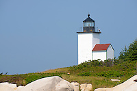 Deer Island Thorofare Lighthouse, Stonington, Maine, USA.