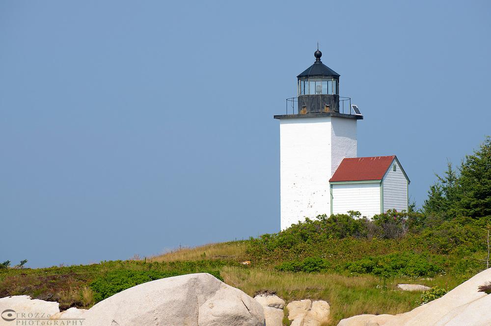 Deer Island Thorofare Lighthouse, Stonington, Maine, USA.