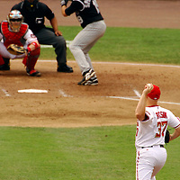 21 July 2007:  Washington Nationals pitcher Mike Bacsik (37) pitches to Colorado Rockies center fielder Ryan Spilborghs (19) in the 5th inning.  The Nationals defeated the Rockies 3-0 at RFK Stadium in Washington, D.C.  ****For Editorial Use Only****