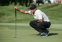 August 10, 2018 - Town And Country, Missouri, U.S - THORBJORN OLESEN from Denmark lines up his putt during round two of the 100th PGA Championship on Friday, August 10, 2018, held at Bellerive Country Club in Town and Country, MO (Photo credit Richard Ulreich / ZUMA Press) (Credit Image: © Richard Ulreich via ZUMA Wire)