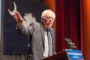 Democratic presidential candidate Senator Bernie Sanders addresses supporters during a campaign rally at the Memminger Theater February 16, 2016 in Charleston, South Carolina, USA.