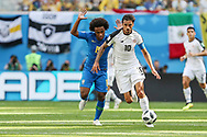 Bryan Ruiz of Costa Rica and Willian of Brazil during the 2018 FIFA World Cup Russia, Group E football match between Brazil and Costa Rica on June 22, 2018 at Saint Petersburg Stadium in Saint Petersburg, Russia - Photo Thiago Bernardes / FramePhoto / ProSportsImages / DPPI