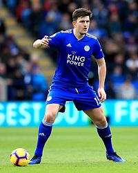 Leicester City's Harry Maguire during the Premier League match at the King Power Stadium, Leicester.