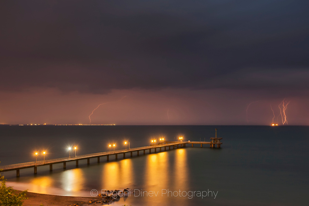 Thunderstorm over the sea