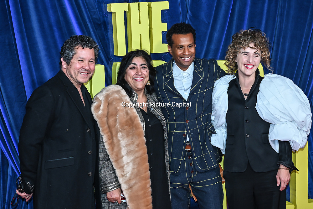 """Gurinder Chadha and Paul Mayeda Berges attended """"The Harder They Fall"""" Opening Night Gala - 65th BFI London Film Festival, Southbank Centre, London, UK. 6 October 2021."""