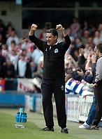 Photo: Tony Oudot.<br /> Queens Park Rangers v Stoke City. Coca Cola Championship. 06/05/2007.<br /> John Gregory the QPR manager celebrates his sides goal
