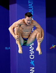 Germany's Patrick Hausding during the Men's 1m Springboard Preliminary during day six of the 2018 European Championships at Scotstoun Sports Campus, Glasgow. PRESS ASSOCIATION Photo. Picture date: Tuesday August 7, 2018. See PA story DIVING European. Photo credit should read: Ian Rutherford/PA Wire. RESTRICTIONS: Editorial use only, no commercial use without prior permission