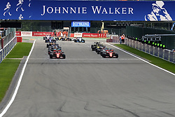 September 1, 2019, Spa Francorchamps, Belgium: Start of the race of the Formula one Johnnie Walker Belgian Grand Prix at the SPA Francorchamps circuit - Belgium..Charles Leclerc wins his first Formula One Grand Prix (Credit Image: © Pierre Stevenin/ZUMA Wire)