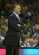 February 27 2013: Purdue Boilermakers head coach Matt Painter during the first half of the NCAA basketball game between the Purdue Boilermakers and the Iowa Hawkeyes at Carver-Hawkeye Arena in Iowa City, Iowa on Wednesday, February 27 2013.