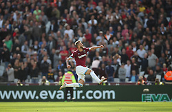 West Ham United's Andriy Yarmolenko celebrates his sides second goal during the Premier League match at the London Stadium