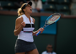 March 9, 2019 - Indian Wells, USA - Madison Keys of the United States in action during her second-round match at the 2019 BNP Paribas Open WTA Premier Mandatory tennis tournament (Credit Image: © AFP7 via ZUMA Wire)