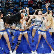 Efes Pilsen's Show girls during their Turkish Basketball league match Efes Pilsen between MP Trabzonspor at the Sinan Erdem Arena in Istanbul Turkey on Friday 11 March 2011. Photo by TURKPIX