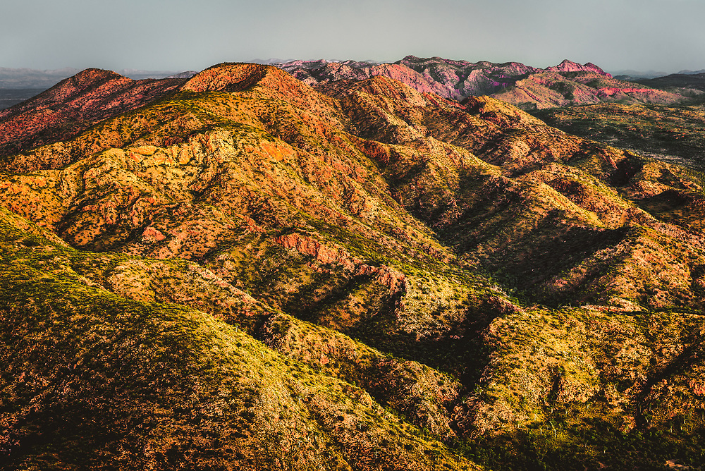 Sunset Light at Brinkley Bluff. West Macdonnell Ranges, Northern Territory