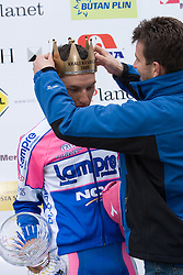 Winner of the stage Simon Spilak  (SLO) of Lampre - N.G.C. at flower ceremony at hill Krvavec at 3rd stage of Tour de Slovenie 2009 from Lenart to Krvavec, 175 km, on June 20 2009, Slovenia. (Photo by Vid Ponikvar / Sportida)