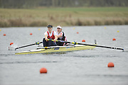 Eton, United Kingdom  GBR W2- Bow. Emily TAYLOR and Olivia WHITLAM, at the start of their heat of the women's pair at the 2012 GB Rowing Senior Trials, Dorney Lake. Nr Windsor, Berks.  Saturday  10/03/2012  [Mandatory Credit; Peter Spurrier/Intersport-images]