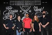 Boxen: WBO-Europameisterschaft, Waage, Bielefeld, 09.07.2021<br /> Team Three Sixty<br /> © Torsten Helmke
