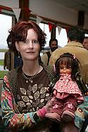 12th September 2008, Wasilla, Alaska. Kathy Furbush who made a Sarah Palin doll, at a rally for Alaskan Governor, Sarah Palin. Palin is the US Republican Vice Presidential pick. PHOTO © JOHN CHAPPLE / REBEL IMAGES.tel: +1-310-570-910