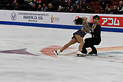 Wenjing Sui and Cong Han from China competes in the Pairs Short Program during the ISU - Four Continents Figure Skating Championships, at the Honda Center in Anaheim California, February 5-10, 2019