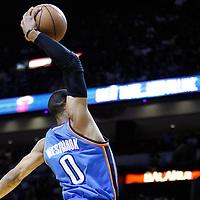 16 March 2011: Oklahoma City Thunder shooting guard Thabo Sefolosha (2) dunks the ball during the Oklahoma City Thunder 96-85 victory over the Miami Heat at the AmericanAirlines Arena, Miami, Florida, USA.