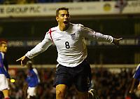 Photo: Chris Ratcliffe.<br /> England v France. U21 European Championships.<br /> 11/11/2005.<br /> Darren Ambrose celebrates his goal