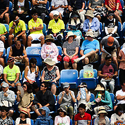 Fans in Louis Armstrong Stadium during the First Round Match between Benoit Paire and Kei Nishikori. B. Paire d. K. Nishikori 6-4, 3-6, 4-6, 7-6(6), 6-4